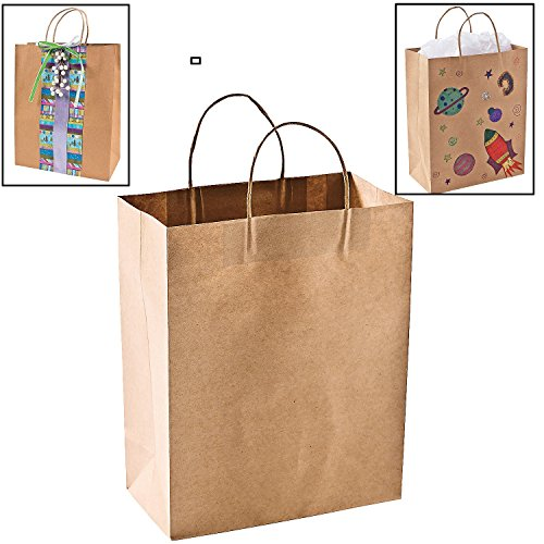 Craft Christmas Gift (Craft Gift Bags ~ Brown Paper 1 dozen - 10