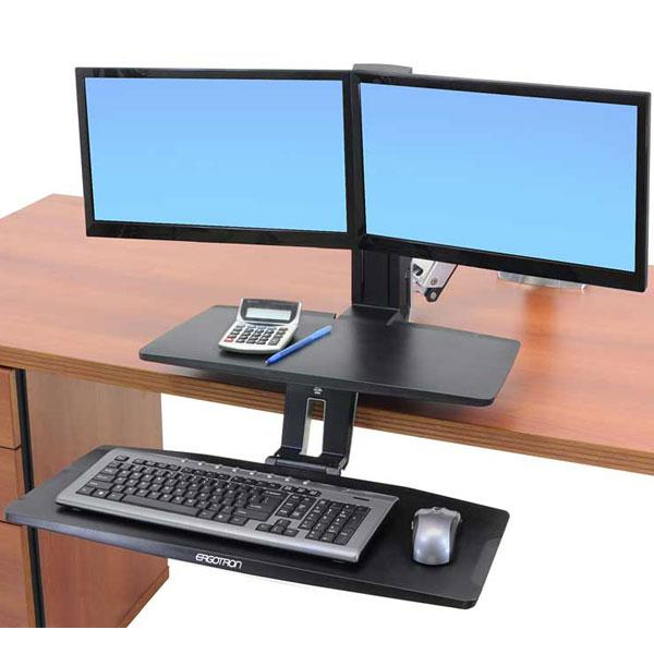 Amazon Com Ergotron Workfit A With Suspended Keyboard
