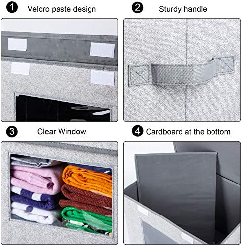 """51Rua5nAjHL. AC - Univivi Larger Storage Cubes [2-Pack] Foldable Storage Box With Lid, Collapsible Storage Bin Organizer Basket With Sturdy Handles For Home, Nursery, Closet (16.92 X 11.8 X 11.81"""")"""