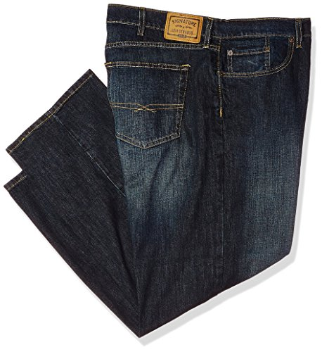 (Signature by Levi Strauss & Co Men's Big and Tall Relaxed Fit Jeans, Lakeshore Stretch 48W x 32L)