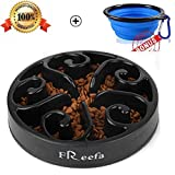 Freefa Freefa-1 Slow Feeder Dog Bowl Bloat Stop Dog Food Bowl Maze Interactive Puzzle Non Skid Feeder