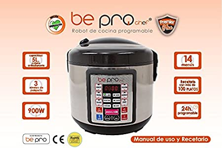 Robot de Cocina Programable Be Pro Chef Premier: Amazon.es