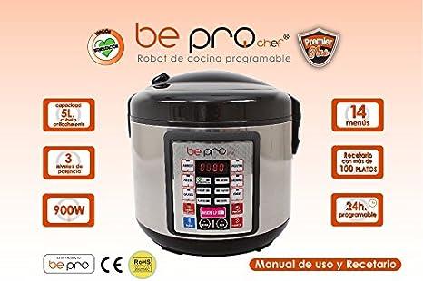 Robot de Cocina Programable Be Pro Chef Premier: Amazon.es: Hogar