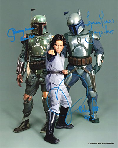 JEREMY BULLOCH LOGAN TEMUERA MORRISON SIGNED 8x10 PHOTO STAR WARS BECKETT BAS