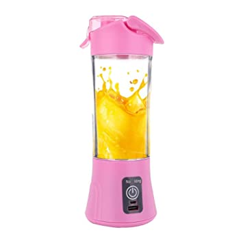Mini exprimidor de frutas, Hunpta 380 ml USB Exprimidor de frutas eléctrico batidora de mano