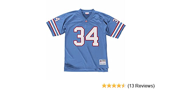 945fbe995 Amazon.com: Mitchell & Ness Earl Campbell Houston Oilers Throwback Premier  Jersey - Blue: Clothing