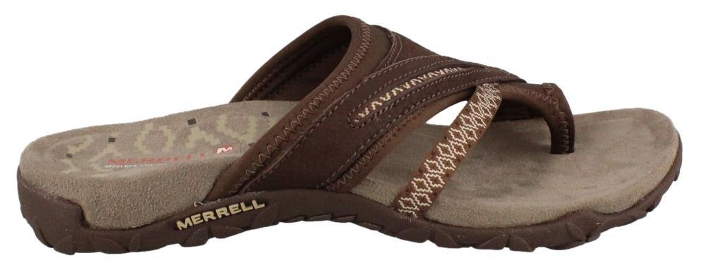 Merrell Women's Terran Post II Sandal, Dark Earth, 8 M US