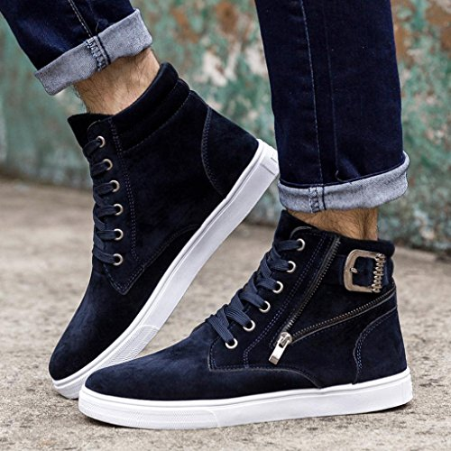 Baskets Femme Sneakers Running Chaud Mode Outdoor Top Toile De Gym Hommes Homme Casual B Course Haute Gongzhumm Sports Bleu Bottes cn44 Aide Chaussures Fitness q50xdZwX