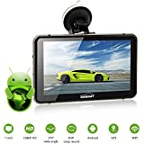"""CARCHET 7"""" Portable Touch Screen GPS Navigator 512MB 8GB 1080P HD DVR 170 Degree Angle with Night Vision and Built-in Wifi Android 4.4 Free Maps"""