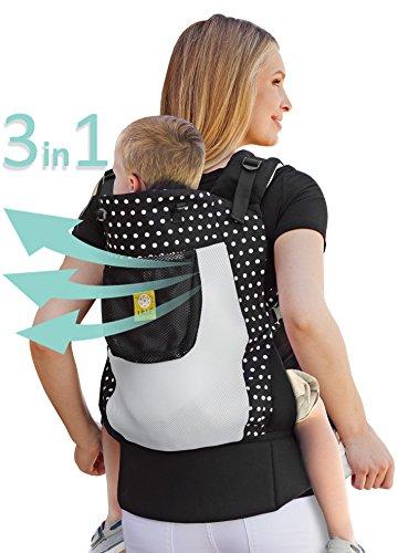 LÍLLÉbaby 3 in 1 CarryOn Toddler Carrier - Airflow, Spot on Black