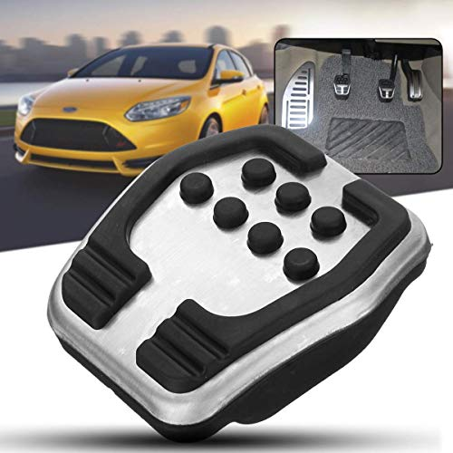 (Stainless Car Clutch Brake MT Pedals Covers Pad Non Slip No Drilling For Ford/Focus 2 MK2Focus 3 MKFocus 4 MK4 RS ST 2005-2018)