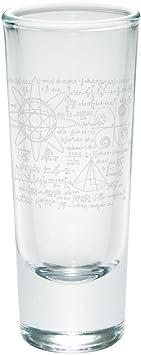 Math Geek Formulas Etched Shot Glass