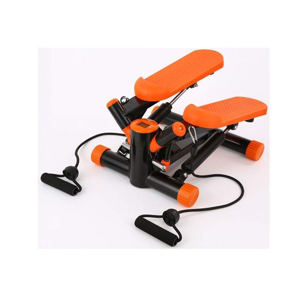 Steppers,Home Fitness Equipment,Adjustable Twist Stepper with Hydraulic Resistance - Upgraded Quality Steel,Digital Display(Orange)