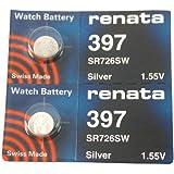 Renata 397 Button Cell watch battery, 2 Batteries