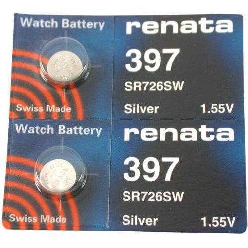 UPC 784922025456, Renata 397 Button Cell watch battery, 2 Batteries