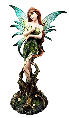 Mother Earth Enchanted Forest Beautiful Pixie Fairy Figurine Fantasy Sculpture