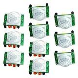 Pyroelectric Infrared PIR Motion Sensor Module, Longruner 10 x HC-SR501 Human Sensor Module Pyroelectric Infrared PIR Motion Sensor for Arduino UNO R3 Mega 2560 Nano LKY65