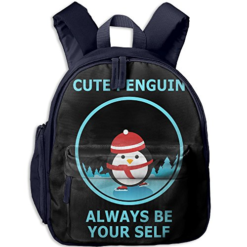Schoolbag Shoulder Bag For Kindergarten Cute Penguin Always Be Your Self Child Class Gift Cool JOYLIAN