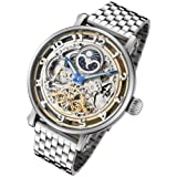 Rougois Dual Time Zone Skeleton Automatic Watch with Day/Night Dial RMAS47