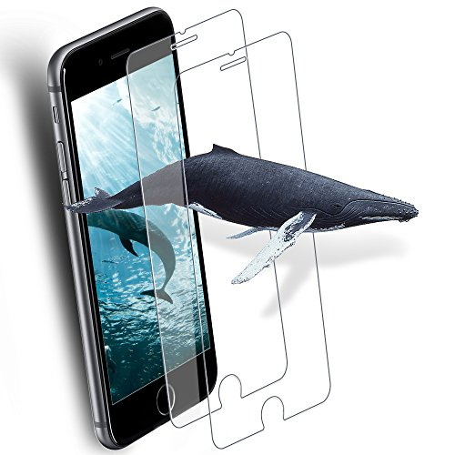 [2-Pack] Screen Protector Compatible iPhone 6 Plus 6S Plus, O-Conn 9H Hardness HD Tempered Glass Screen Protector Compatible iPhone 6 Plus, iPhone 6S Plus