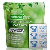 Koala Mosquito Repellent Patch 72 Count Keeps Insects and Bugs Far Away, Simply Apply to Clothes, Adult, Kid-Friendly, Convenient for Travel, Outdoor and Camping