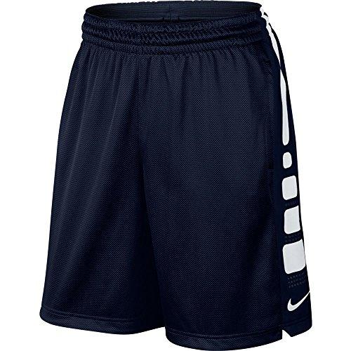 Court Basketball Shorts (Men's Nike Elite Stripe Basketball Shorts Obsidian/White Size)