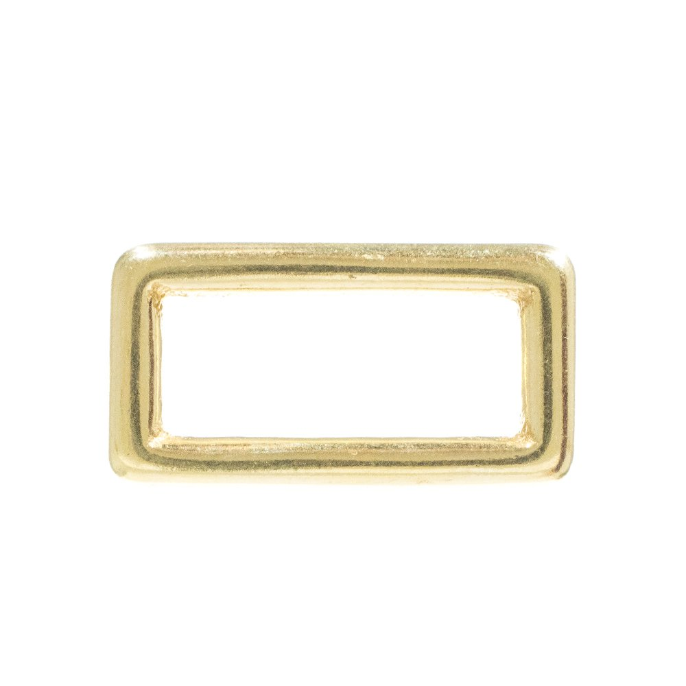 Craft County - 1 Inch Sand Casted Solid Brass Loops - Choose from a Variety of Pack Sizes - Available in 5, 10, 25, 50, 100 Packs