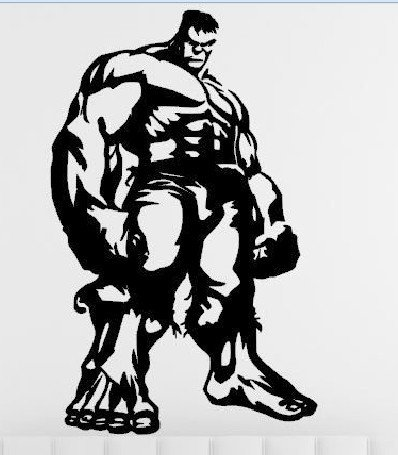 Price comparison product image DD071 Hulk Inspired Decal Sticker / 7-Inches By 4.3-Inches / Premium Quality Black Vinyl