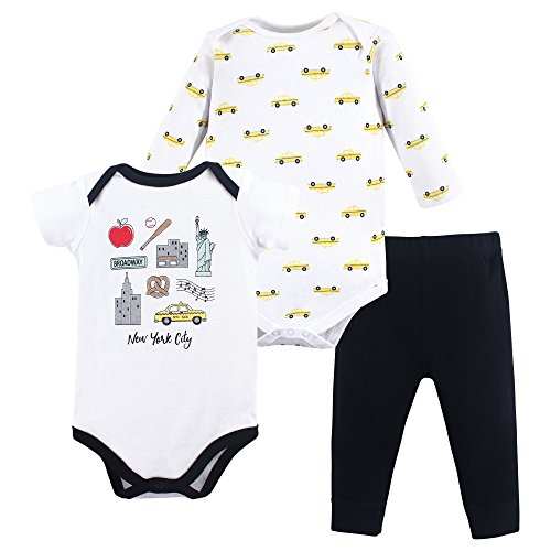 Hudson Baby Baby Bodysuit and Pant Set, New York City, 3-6 Months (6M)