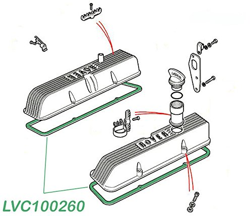 LAND ROVER DISCOVERY 2 1999-2004 VALVE COVER GASKET SET OF