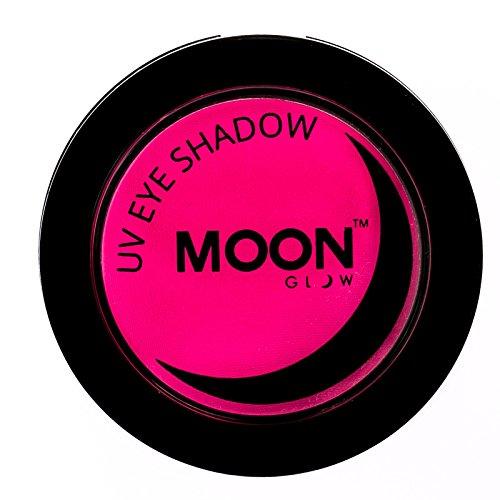 Moon Glow - Blacklight Neon Eye Shadow 0.12oz Pink – Glows brightly under Blacklights / UV Lighting!