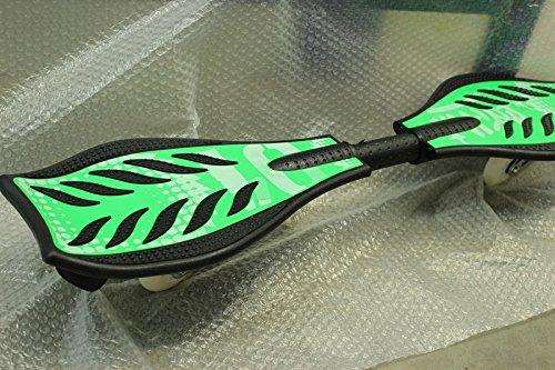 DiversitySport - Monopatín waveboard con luces intermitentes en las ruedas, Green With Design: Amazon.es: Deportes y aire libre