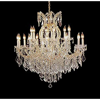 Swarovski crystal trimmed maria theresa chandelier crystal lighting maria theresa chandelier crystal lighting chandeliers lights fixture pendant ceiling lamp for dining room entryway aloadofball Gallery