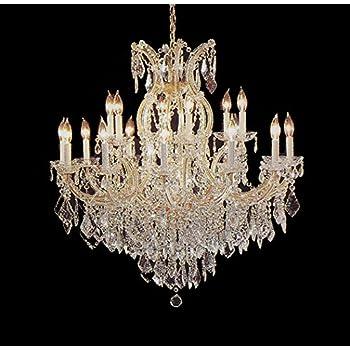 Maria Theresa Swarovski Crystal Trimmed Chandelier Lighting ...