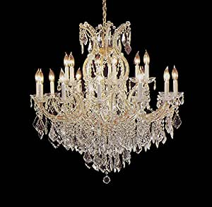 """Maria Theresa Chandelier Crystal Lighting Chandeliers Lights Fixture Pendant Ceiling Lamp for Dining room, Entryway , Living room H38"""" X W37"""""""