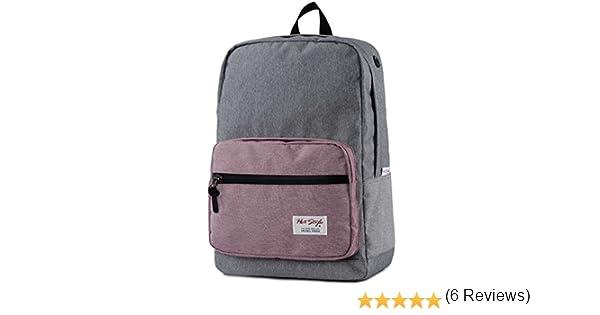 HotStyle 915s Mono mochila colegio 24L - Impermeable para portatil de 15-inch - Gris/Rosa: Amazon.es: Equipaje