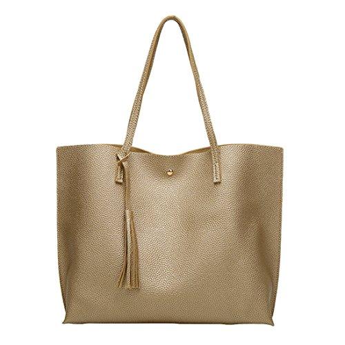 ZHOUBA - Bolso estilo cartera para mujer, negro (negro) - KF155636T4M0Q5527 dorado