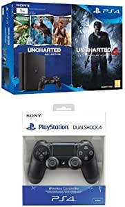 PlayStation 4 Slim (PS4) 1TB - Consola + Uncharted Collection + Uncharted 4 + DualShock 4 Negro V2 adicional: Amazon.es: Videojuegos