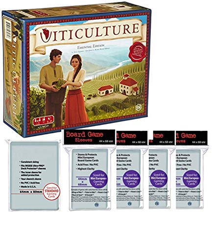 Stonemaier Games Viticulture Essential Edition Board Game with 300 Card Sleeves to Protect Your Game