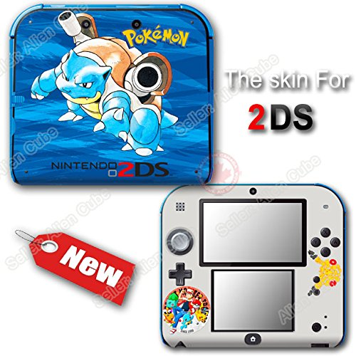 Pokemon 20th Anniversary Blue Edition Skin Sticker Decal Cover for Nintendo 2DS
