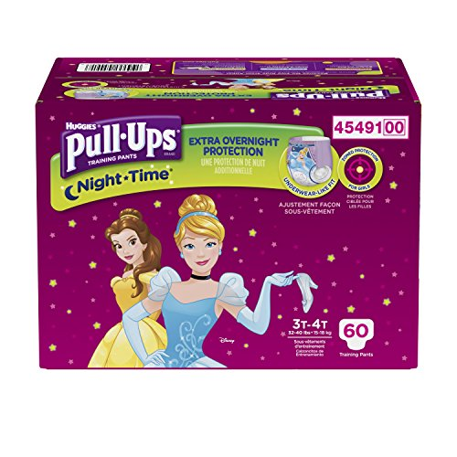 Pull-Ups Night-time Training Pants for Girls, 3T-4T, 60 Count