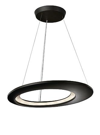Philips Lirio Ecliptic - Lámpara colgante de interior, LED, luz blanca cálida, 2.5 W, 50/60 Hz, diámetro 65 cm, metal, color antracita