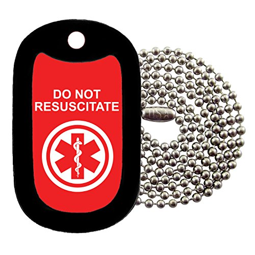 (Tag-Z Military Dog Tags - Medical Alert DO NOT RESUSCITATE Dog Tag Necklace)