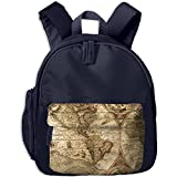 Children World Map Pre School Shoulder School Bag Navy