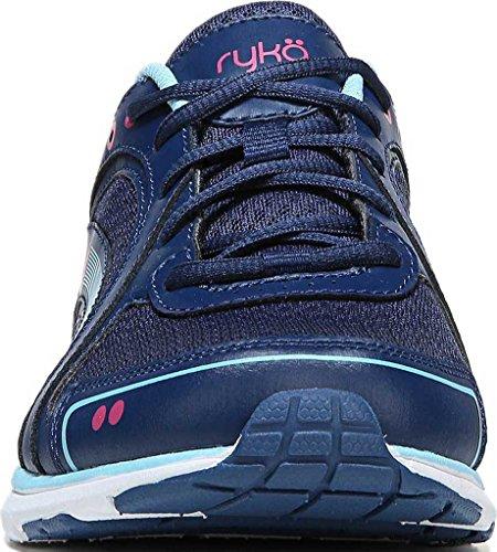 Ryka Womens Aries Walking Shoe Jet Ink Blue/Zuma Pink/Petit