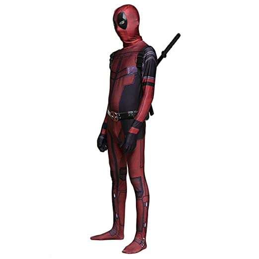 werty Marvel Deadpool Cosplay Traje Traje De Disfraces De ...