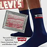 Levi's Casual Mens Socks - 5 Pack Socks Long Cool