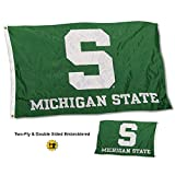 Cheap College Flags and Banners Co. Michigan State Spartans Double Sided Nylon Embroidered Flag
