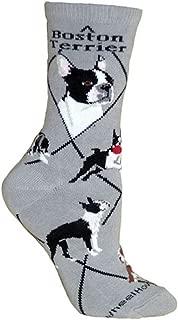 product image for Wheel House Designs Boston Terrier Women's Argyle Socks (Shoe size 6-8.5)