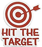 HIT THE SPOT Decal BATHROOM TOILET Potty SEAT Boys Training Target (come with glowindark switchplate decal) Stickerciti Brand